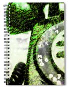 Lime Rotary Phone Spiral Notebook