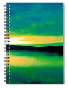 Lime Sunset Spiral Notebook