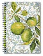 Limes On Damask Spiral Notebook