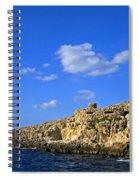 Limestone Rock, Mediterranean Sea, Malta Spiral Notebook