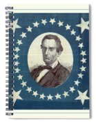 Lincoln 1860 Presidential Campaign Banner - Bust Portrait Spiral Notebook