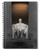Lincoln And Columns Spiral Notebook