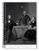 Lincoln And Family Spiral Notebook