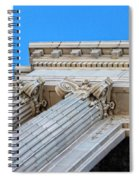 Lincoln County Courthouse Columns Looking Up 01 Spiral Notebook