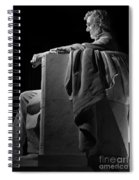 Lincoln In Black And White Spiral Notebook