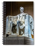 Lincoln In Memorial Spiral Notebook