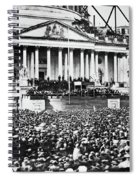 Lincoln Inauguration, 1861 Spiral Notebook