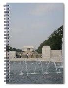 Lincoln Memorial And Fountain - Washington Dc Spiral Notebook