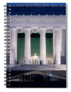 Lincoln Memorial At Dusk, Washington Spiral Notebook