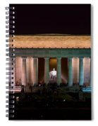 Lincoln Memorial At Night Spiral Notebook