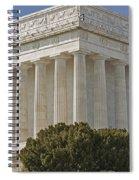 Lincoln Memorial Pillars Spiral Notebook