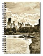 Lincoln Park View Sepia Spiral Notebook