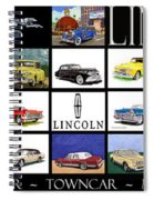 Poster Of Lincoln Cars Spiral Notebook