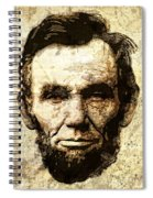 Lincoln Sepia Grunge Spiral Notebook