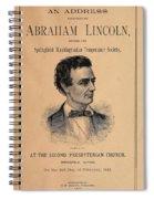 Lincoln Temperance, 1842 Spiral Notebook