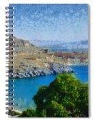 Lindos Beach Spiral Notebook