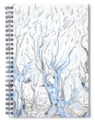 Line Forest Spiral Notebook