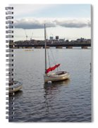 Line Of Boats On The Charles River Spiral Notebook
