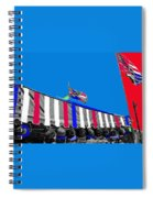 Line Of Hats Tent Us Confederate Flags Tucson Arizona 1984-2012 Spiral Notebook