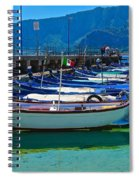 Lined Up Fleet In Sicily Spiral Notebook