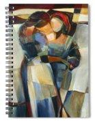 Lines Crossed Spiral Notebook