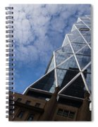 Lines Triangles And Cloud Puffs - Hearst Tower In New York City Spiral Notebook