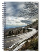 Linn Cove Viaduct During Winter Near Blowing Rock Nc Spiral Notebook