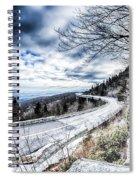 Linn Cove Viaduct Winter Scenery Spiral Notebook