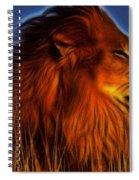 Lion - King Of Animals Spiral Notebook