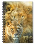 Lion And Lioness- African Royalty Spiral Notebook