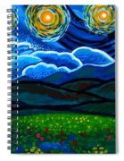 Lion And Owl On A Starry Night Spiral Notebook