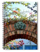 Lion Arch With Flowers Spiral Notebook