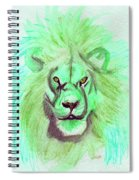 Lion Blue By Jrr Spiral Notebook