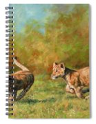 Lion Cubs Running Spiral Notebook