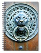 Lion Door Knocker In Norway Spiral Notebook