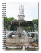 Lion Fountain - Aix En Provence Spiral Notebook