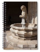 Lion Fountain Jeronimos Monastery In Lisbon Spiral Notebook