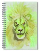 Lion Green Spiral Notebook