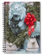 Lion In Winter Spiral Notebook