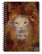 Lion Lamb Face Spiral Notebook