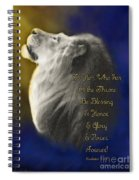 Lion Adoration Spiral Notebook