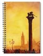 Lion Of San Marco Sunset Spiral Notebook