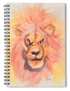 Lion Orange Spiral Notebook