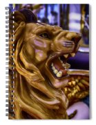 Lion Roaring Carrousel Ride Spiral Notebook