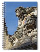 Lion Statue In Bruges Spiral Notebook