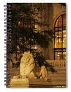 Lion Statue In New York City Spiral Notebook