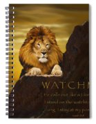 Lion Watchman Spiral Notebook