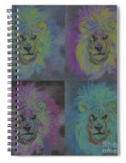 Lion X 4 Color  By Jrr Spiral Notebook