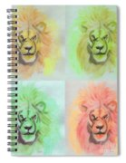 Lion X 4  Spiral Notebook
