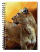 Lioness Is Near Spiral Notebook